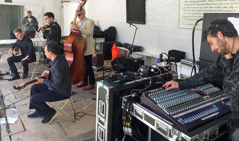 dartmouth music festival dBs Music students live sound engineer
