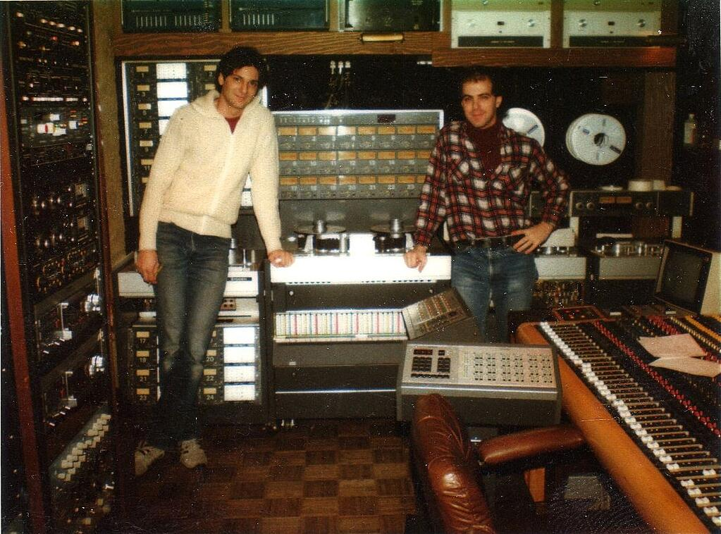 Rich at Kingdom Sound Studios with David Olivier, who gave Rich the referral to Kingdom Sound a year earlier.