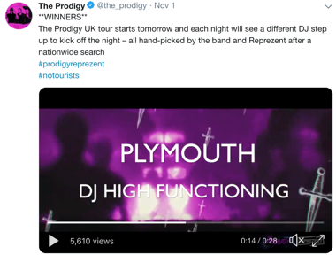 Prodigy Twitter DJ High Functioning