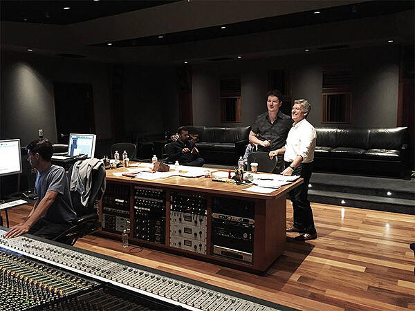 Wlad Marhulets in the recording studio