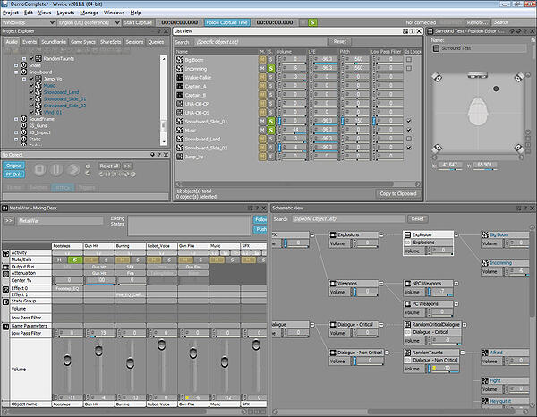 The Best Free Tools for Building Your Own Video Game - A look at the interface for Audiokinetic's Wwise